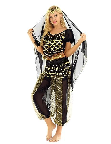 Amazon.com: MSemis - Disfraz de mujer para danza del vientre ...
