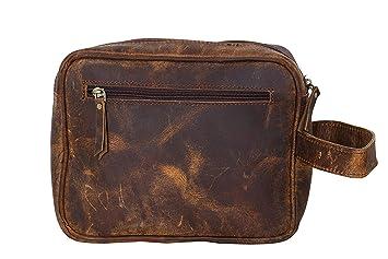 LBH-Bolsa de aseo Mujer niño Hombre niña marrón canela large ...