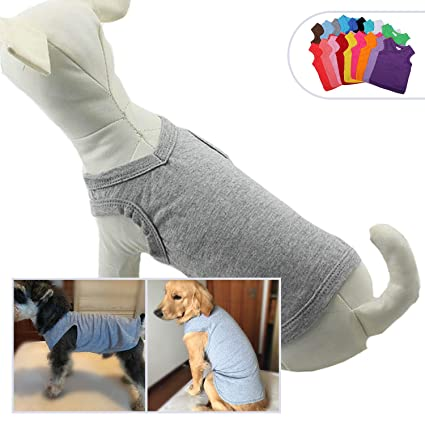 f1dcc5c71f48 lovelonglong 2019 Pet Clothing Costumes, Puppy Dog Clothes Blank T-Shirt  Tee Shirts for Large Medium Small Dogs, 100% Cotton Classic Pet Clothing  Puppies ...