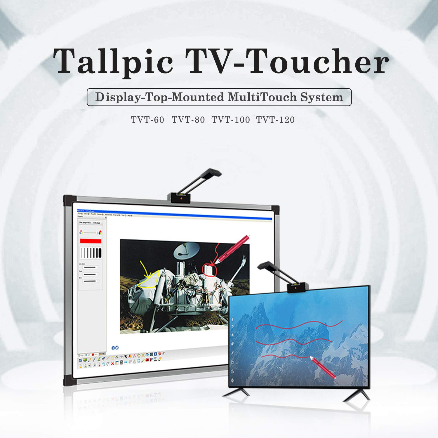 Tallpic Plug-n-Play TV-Toucher Turn 80'' TV into Interactive Touchscreen for Home and Office by Tallpic