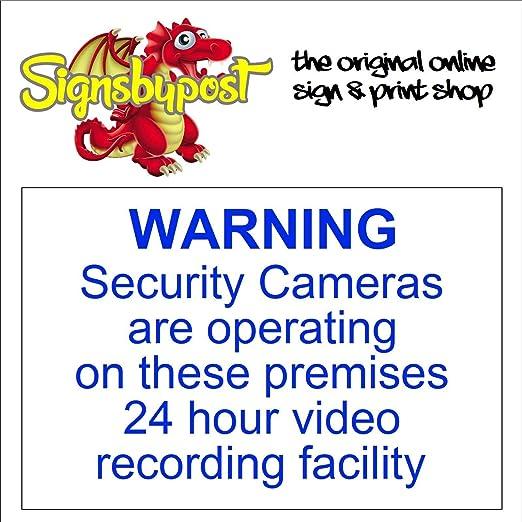 Señal de advertencia de cámaras de seguridad que funcionan ...