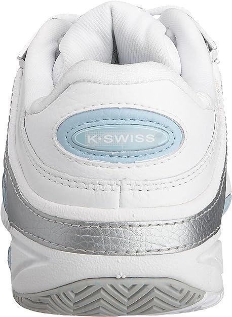 K Swiss Defier RS Homme Blanc Classique En Cuir Blanc Tennis Baskets Chaussures UK 8-14