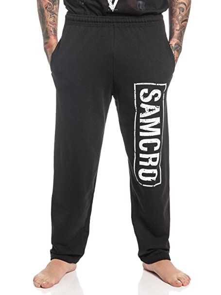 Sons of Anarchy Samcro Pantalones de Deporte Negro: Amazon ...