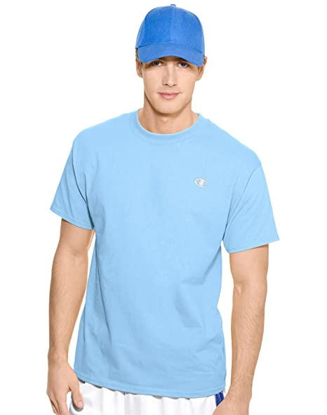827ce2da Champion Men's Short Sleeve Jersey Crewneck Tee Candid Blue XX-Large at  Amazon Men's Clothing store: