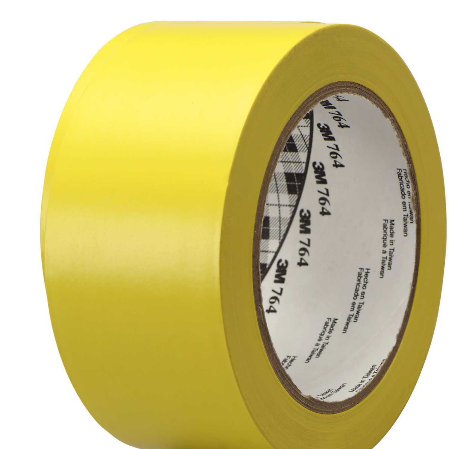 3M General Purpose Vinyl Tape 764, Yellow, 2 in x 36 yd, 5 mil