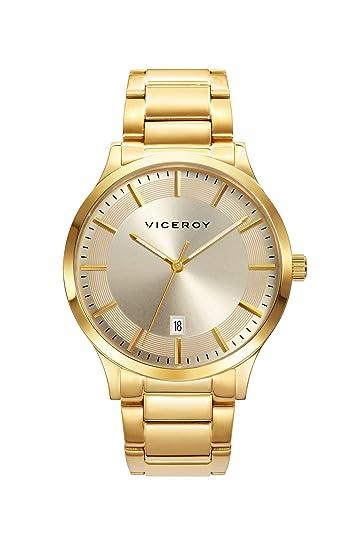 Viceroy Reloj Analógico para Hombre de Cuarzo con Correa en Acero Inoxidable 471169-97