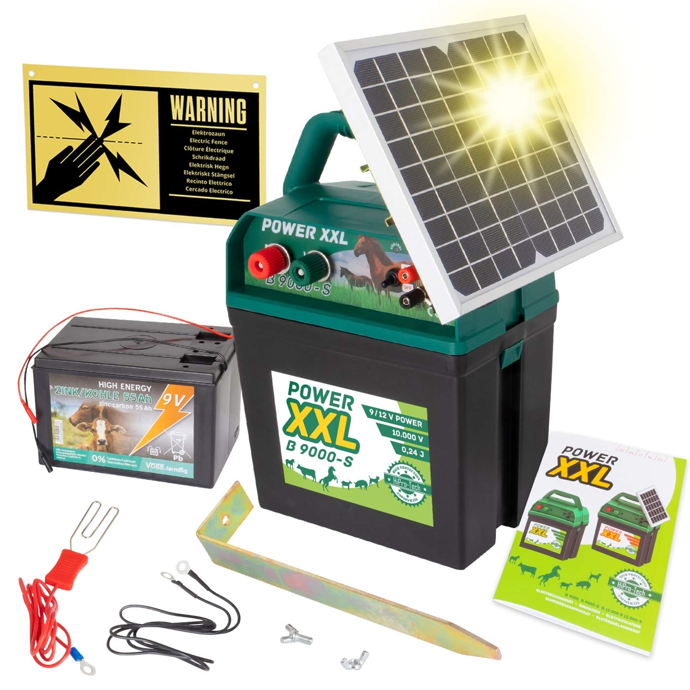 for Energisers VOSS.farming Electric Fence 9V Battery ZINC-CARBON 55Ah