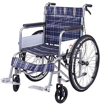 Silla de ruedas Transporte Ligero Plegable Silla De Ruedas Silla De Viaje Portátil Aleación De Aluminio