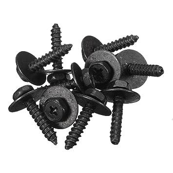 MERCEDES SELF TAPPING TAPPER SCREW /& WASHER 4.8 x 19 mm BLACK 8MM HEX HEAD