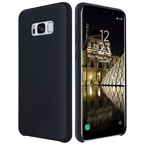 100% authentic 89c73 f8d4e ULAK Galaxy S8 Plus Case, Silicone Slim Shockproof Liquid Silicone Gel  Rubber Cover with Soft Microfiber Cloth Lining Cushion for Samsung Galaxy  S8 ...