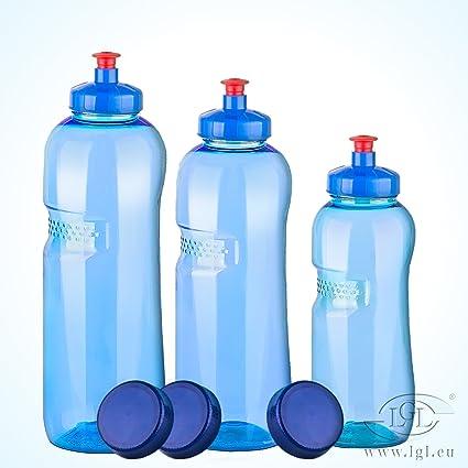 IMHA - Lote de 3 botellas de plástico (tritán, 0,5-0