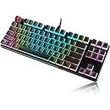 Glorious Aura Keycaps for Mechanical Keyboards - PBT, Pudding, Double Shot, Black, Standard Layout | 104 Key, TKL…