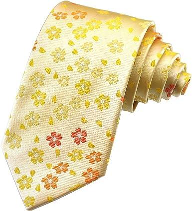 PenSee para hombre corbata JACQUARD tejido de flores de seda ...