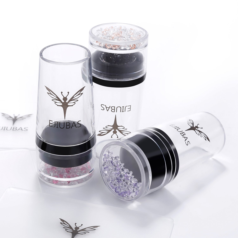 Amazon.com : Ejiubas Nail Stamper + Scraper Nail Stamp kit 3Pcs Nail ...