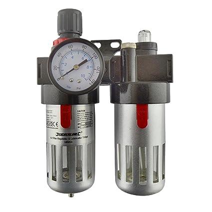 Filtro Regulador Lubricador de aire y herramientas neumáticas racores TRAMPA DE AGUA COMPRESOR SIL332