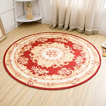 Bin Noble Floral Oriental Formal Traditionnel Rond Tapis Facile A
