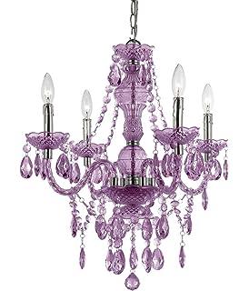 Amethyst purple crystal chandelier h25 x w24 amazon af lighting 8353 4h naples four light mini chandelier light purple aloadofball Image collections