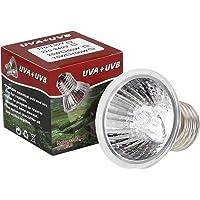 LEDGLE 25W Lámpara Tortugas de Agua, E27 UVB UVA Bombillas, Bombillas de Calor para Tortuga, Reptiles, Lagarto