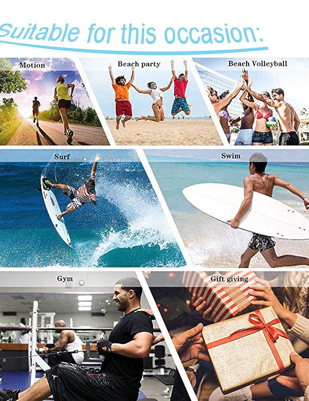 Men/'s Summer Beach Trunks Colour Abstract Paint Drawstring Elastic Waist Quick Drying Swim Shorts Swimwear