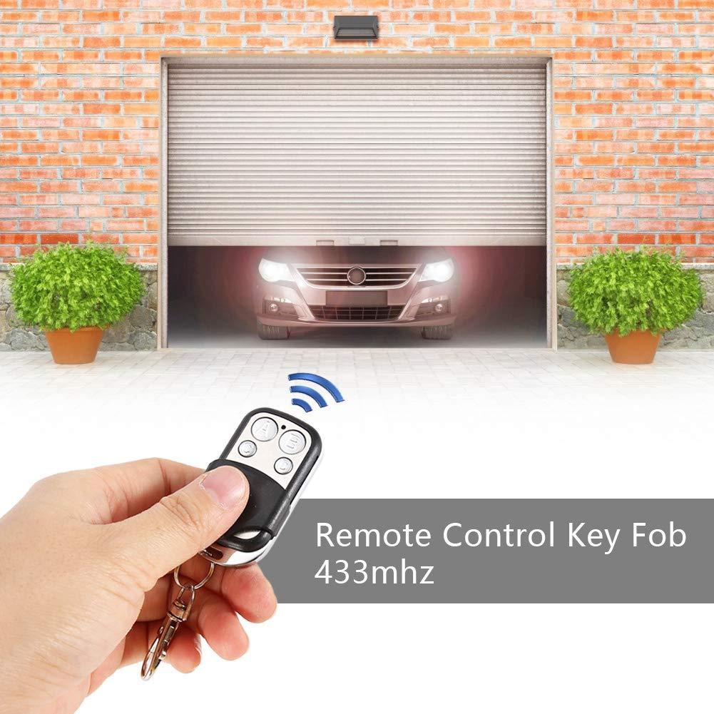 4pcs Universal Clonage T/él/écommande sans fil Fob Key pour porte de garage 433mhz telecommande porte de garage Key Fob