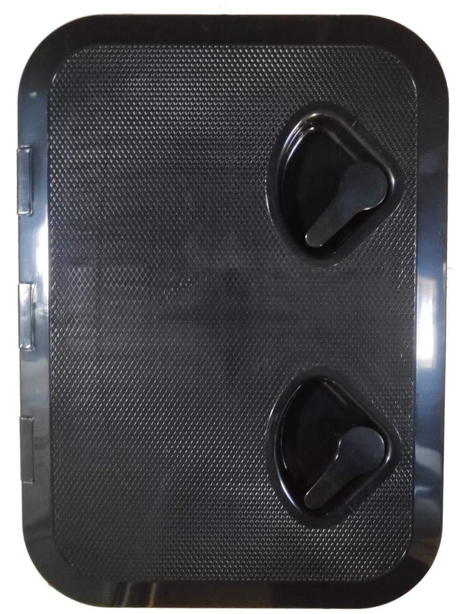 Seaflo Marine Boat Deck Access Hatch & Lid 17.3'' x 12.4'', Black, 440mm x 315mm ... by Seaflo