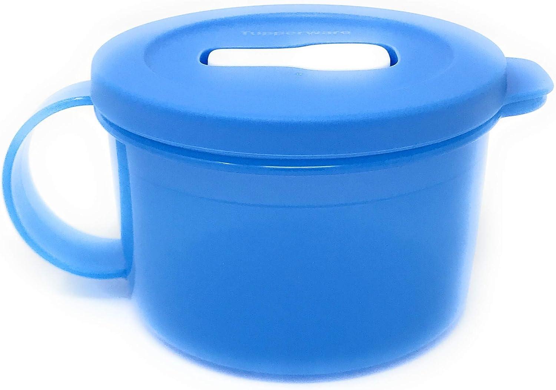 Tupperware Medium Blue Crystalwave Microwave Soup Mug 16 Oz. NEW