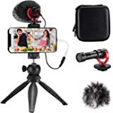 FULAIM Smartphone Video Microphone Kit, Shotgun Mic Rig Video Recording Accessories w/Phone Holder Tripod Compatible…