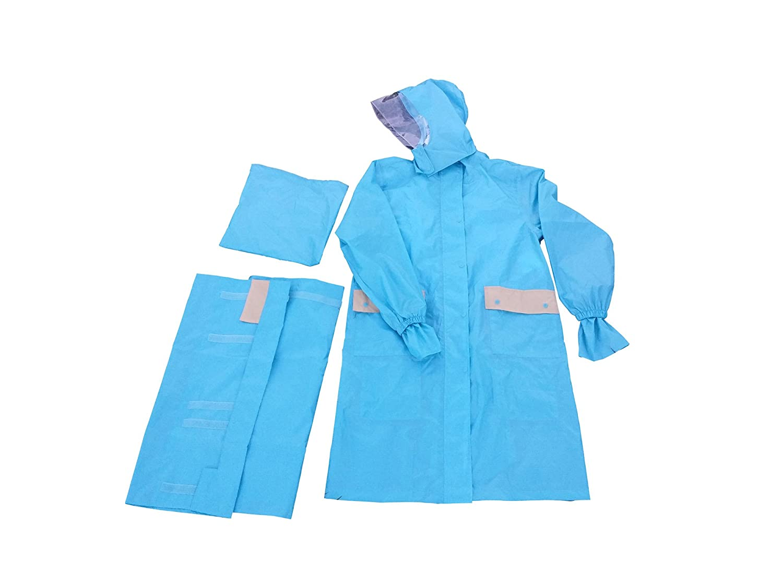 ユビオン 多機能サイクルレインコート 全3色 全2サイズ レインコート ブルー L 防水透湿 728 [正規代理店品] B017VSOTFA Large|ブルー ブルー Large