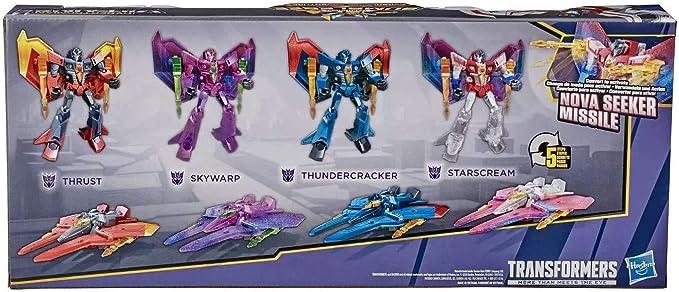 MFT-F01 Transformers Seeker Skywarp Thundercracker Starscream Figure 11CM Toy