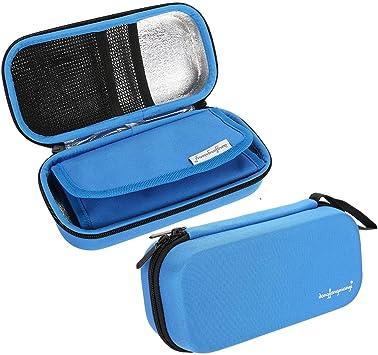Enfriador de insulina Bolsa, Insulin Pen Case Cooling Protector Bag Impermeable portátil Cooler Travel Diabetic Pocket, Built-in Temperature Display, Certificación FDA(Azul): Amazon.es: Salud y cuidado personal