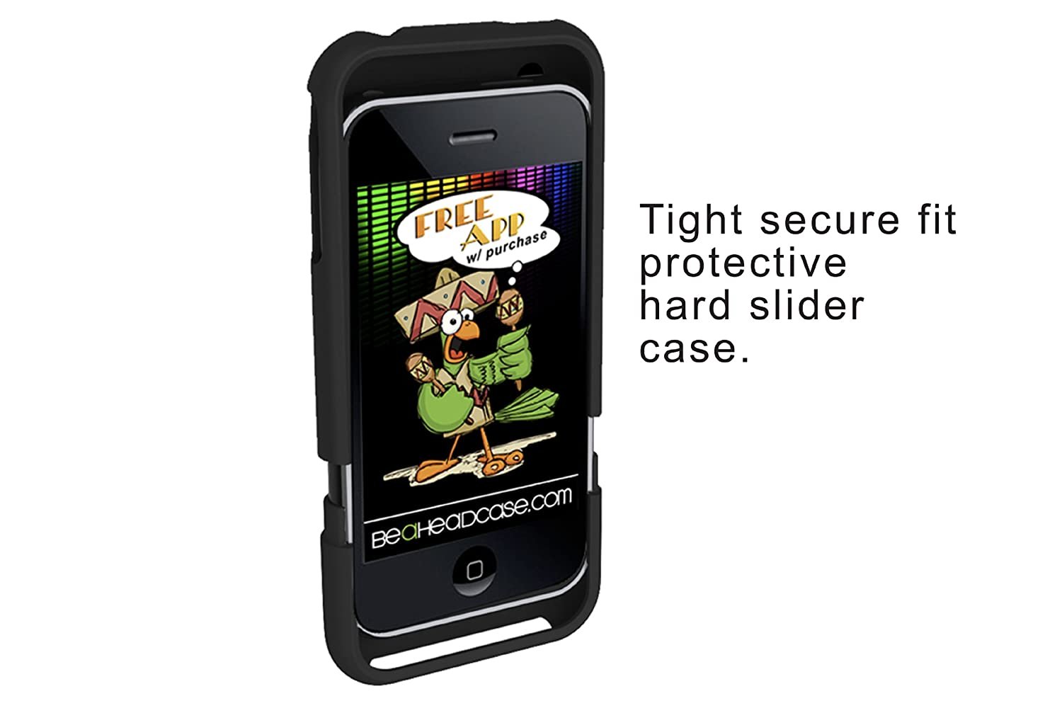Bottle Opener Phone Case for iPhone 3G/3GS - Black- Free App with Purchase