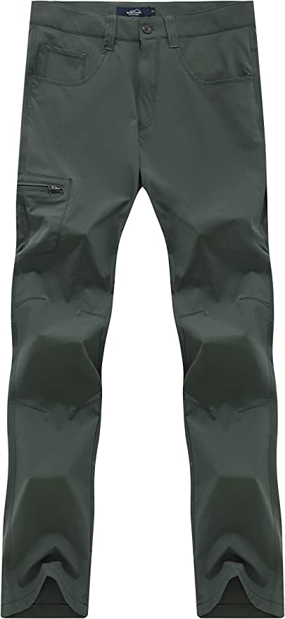 svacuam Mens Outdoor Sport Lightweight Breathable Soft Quick Dry Hiking Pants
