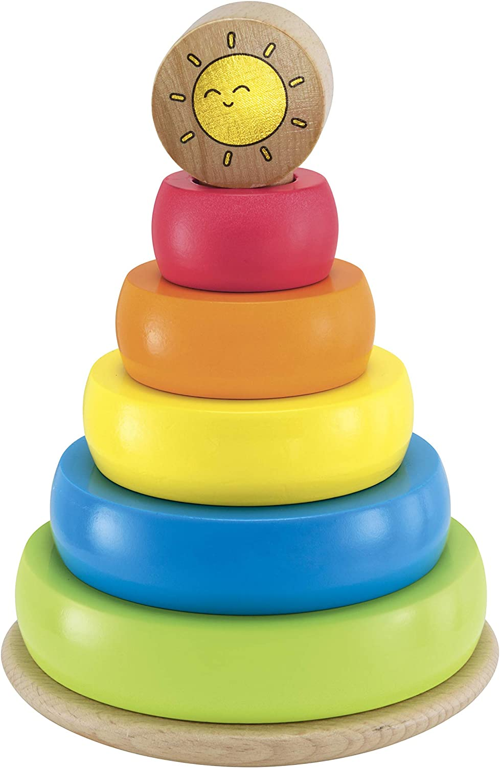 Exclusive Early Learning Centre Wooden Stacking Rings