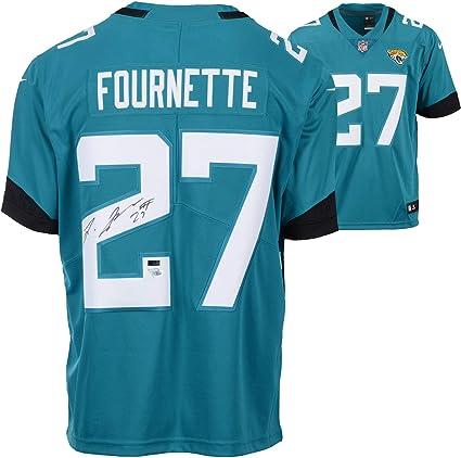 uk availability 2c8a8 1f143 Leonard Fournette Jacksonville Jaguars Autographed Teal Nike ...