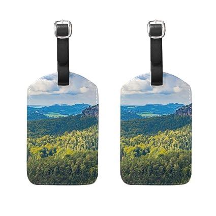 COOSUN Vistas impresionantes Etiquetas de equipaje de viaje Etiquetas Titular Nombre de la etiqueta Tarjeta para