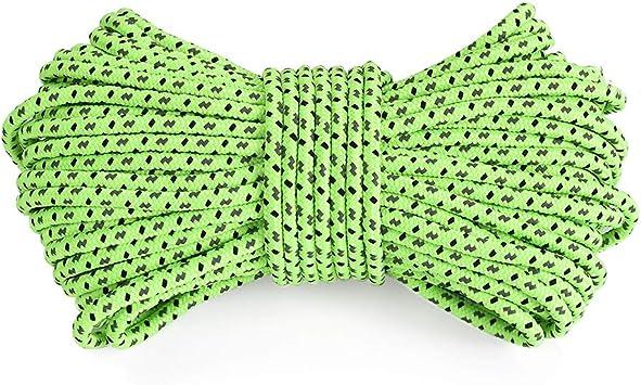 Starnearby Cuerda para paracaídas reflectante 50 m cuerda ...