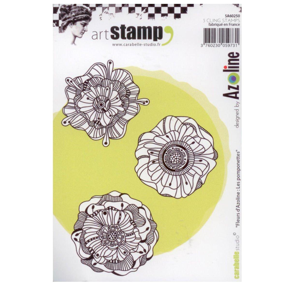 Carabelle Studio SA60250 A6 Stamp Set - Fleurs d'Azoline - Les Pomponettes