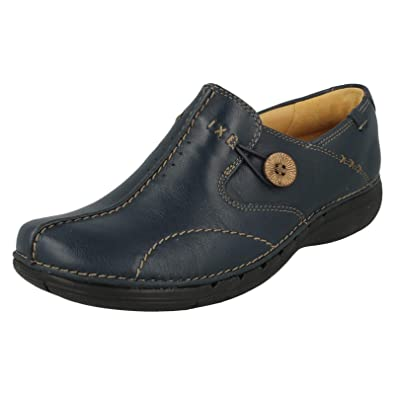 53a296c8f353 Clarks Un Loop Womens Wide Casual Shoes 3 Navy