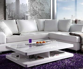 Wohnzimmertisch Pocket Hochglanz Weiss 120x80 Cm Tisch