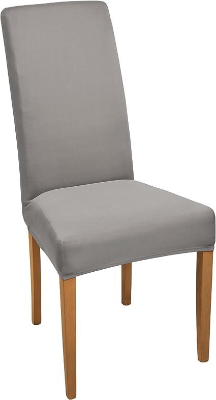2er Set Chair Cover Stretch Mia Cotton Bi-Elastic ökotex in White New