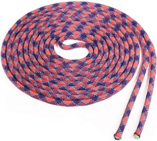 product image for Atwood Rope MFG Double Dutch Jump Rope - 3/8 Inch - 18 Feet - Kids Adults (Purple Checker with Teal Tracer, Two Pieces by 18ft)