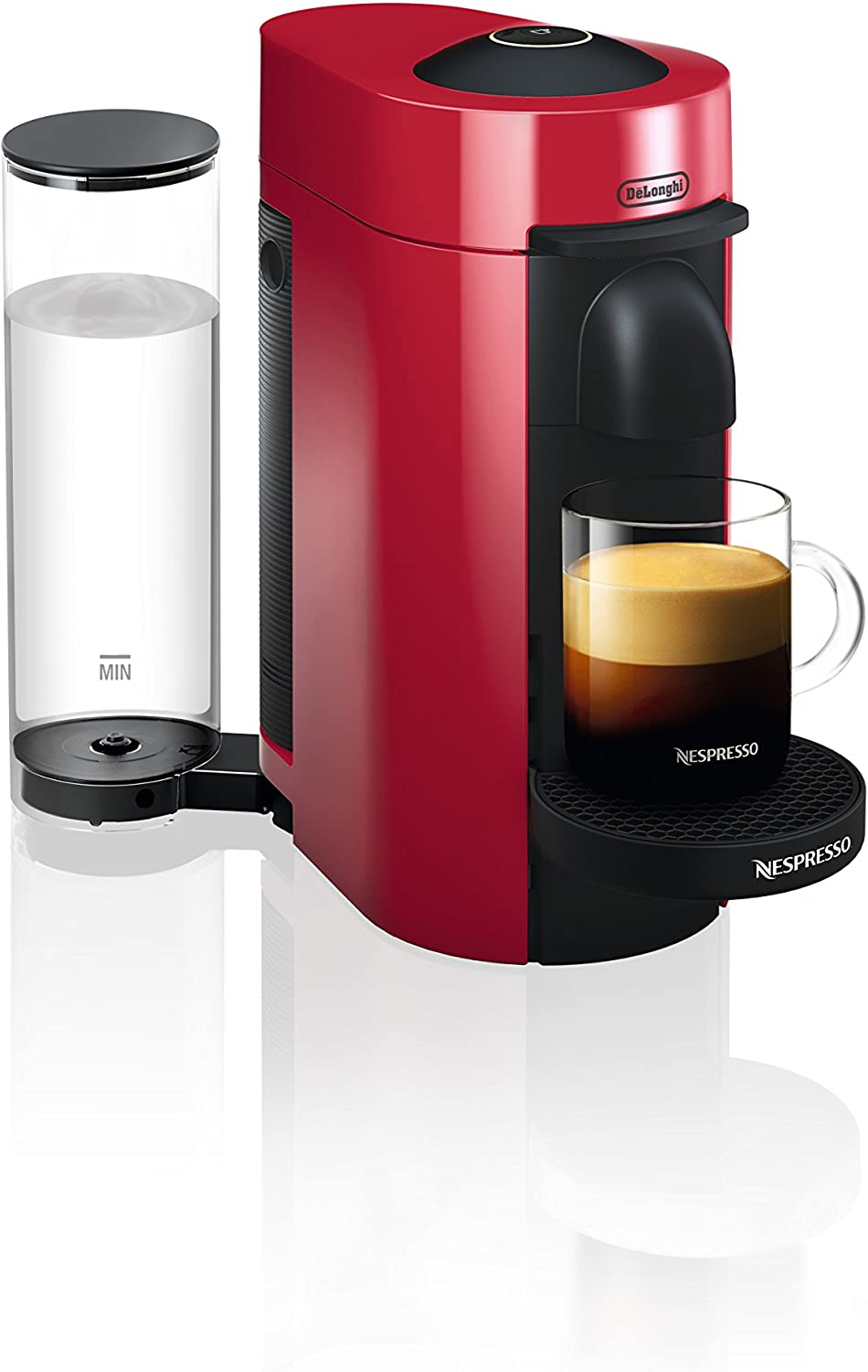 Nespresso by De Longhi ENV150R VertuoPlus Coffee and Espresso Machine by De Longhi, Red