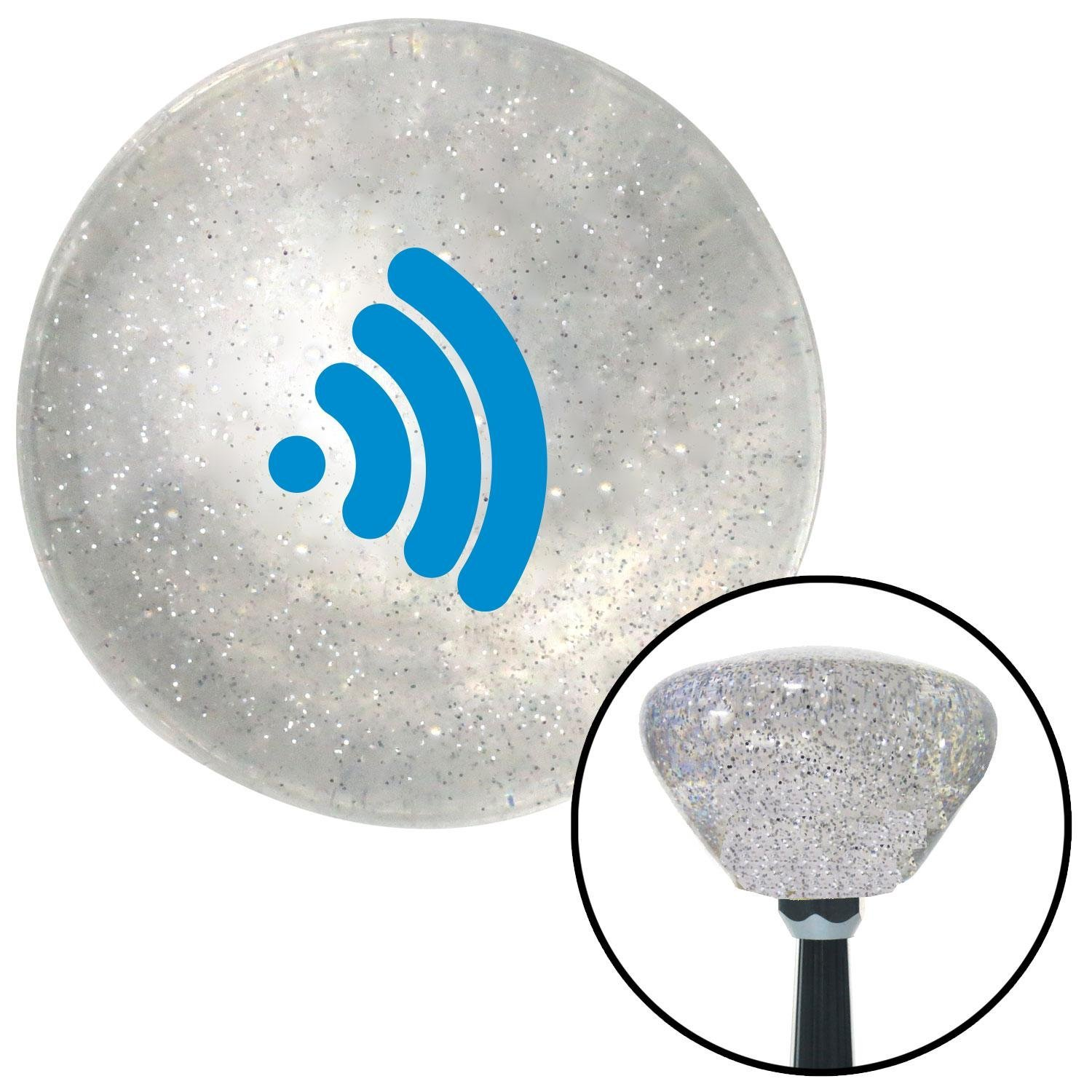 Blue Wireless American Shifter 163802 Clear Retro Metal Flake Shift Knob with M16 x 1.5 Insert
