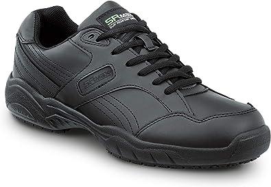 Safetrax Men/'s Jam Black Slip-Resistant Memory Foam Athletic Work Shoes