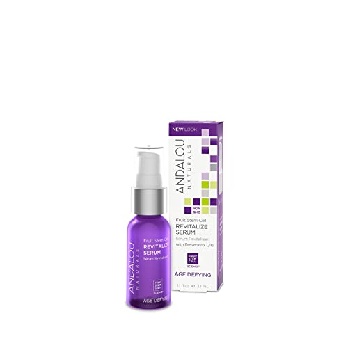 Andalou Naturals Fruit Stem Cell Revitalize Serum, 1.1 oz, For Dry Skin, Fine