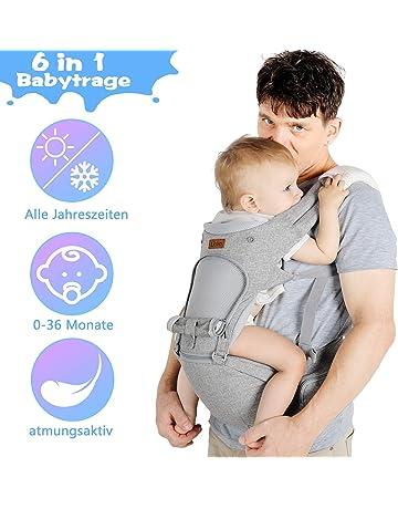 Babytrage Baby f/ür Neugeborene,OMORC Kinder H/üftgurt reine Baumwolle /& Verstellbare Atmungsaktive Kindertrage Leichtes Tragen,Grau