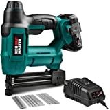 Cordless Brad Nailer, NEU MASTER NTC0023 Rechargeable Nail Gun/Staple Gun for Upholstery, Carpentry and Woodworking Projects,