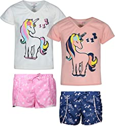 53e8fbb178b4 dELiAs 2-Pack Girls Pajama Sleepwear Short Set (2 Full Sets)