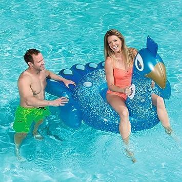 Flotador Juguete Hinchable para Piscina,Gigante inflable piscina de pavo real flotante, diversión flotadores de playa, natación juguetes de fiesta, piscina de verano balsa salón para adultos niños: Amazon.es: Deportes y aire libre