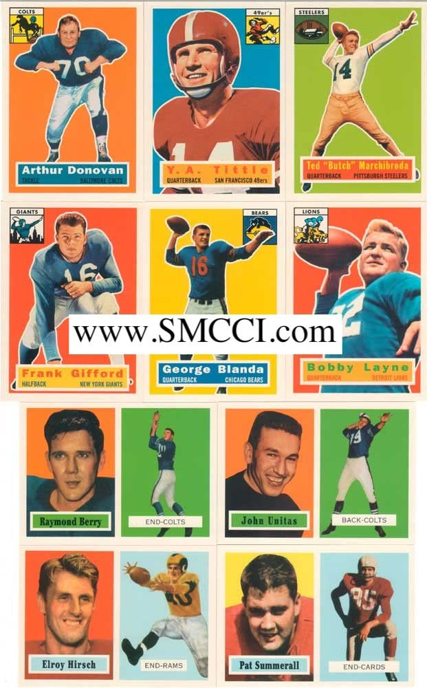 B003SRQ3AS 1994 Topps Archives Football 1956 and 1957 Reprint Complete Mint Hand Collated Set. Loaded with Stars and Hall of Famers Including Reprints of Paul Hornung, Johnny Unitas and Bart Starr's Rookie Card and Many Others! 714-2B3YL9vL